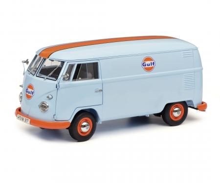 """schuco VW T1b box van """"Gulf"""", 1:18"""