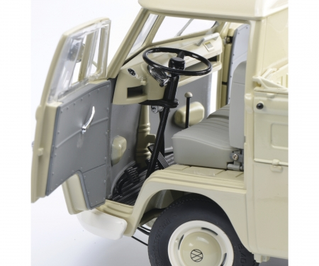 schuco VW T1b pick-up with tarpaulihn, beige 1:18