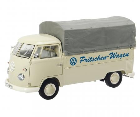 """schuco VW T1b Pritsche mit Plane """"VW Pritschen-Wagen"""", 1:18"""