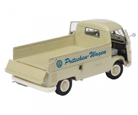 """schuco VW T1b pick-up with tarpaulin """"VW Pritschen-Wagen"""", 1:18"""