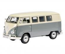 VW T1 Bus, perlweiß-mausgrau, 1:18