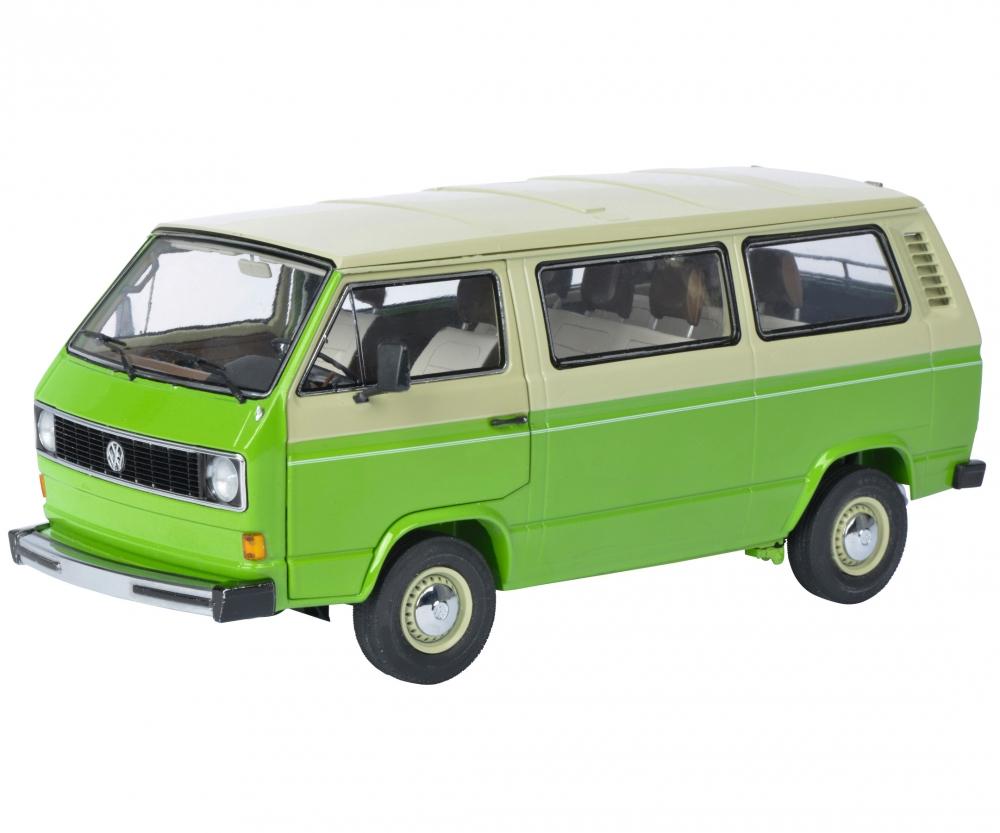 vw t3 bus green beige 1 18 edition 1 18 box van. Black Bedroom Furniture Sets. Home Design Ideas