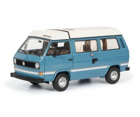 VW T3a Westfalia Joker with folding roof, blue, 1:18