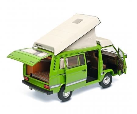 schuco VW T3a Camper Joker green1:18