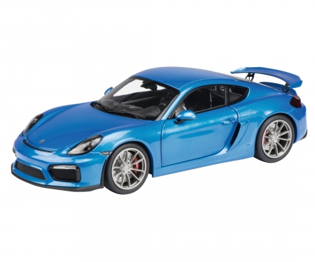 Porsche Cayman GT4, blue metallic, 1:18