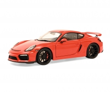 schuco Porsche Cayman GT4 red 1:18