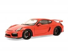 schuco Porsche Cayman GT4 rot 1:18