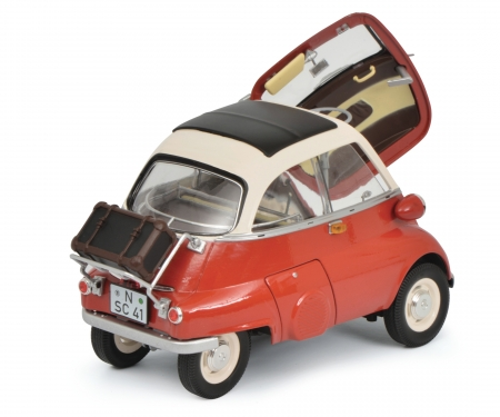 schuco BMW Isetta Export, red/beige1:18