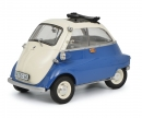 schuco BMW Isetta Export, blue/grey 1:18