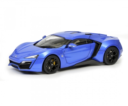 schuco Lykan Hypersport, blue, 1:18