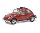 """schuco VW Käfer Faltdach """"1963"""", rot, 1:18"""