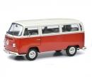 schuco VW T2a Bus L, rot-weiß, 1:18