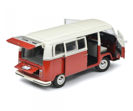 VW T2a Bus L, red white, 1:18