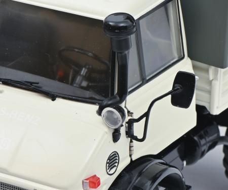 schuco Unimog 406 closed cab grey 1:18
