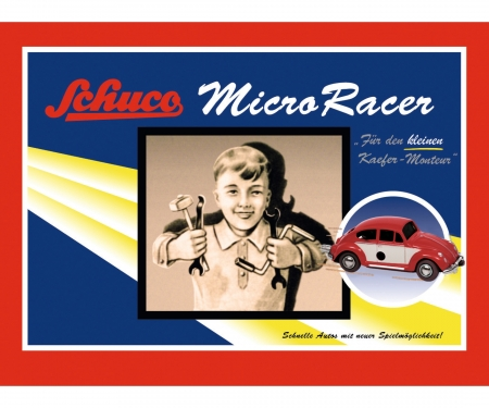 "schuco Micro Racer ""VW Käfer"" construction kit, dark red beige"