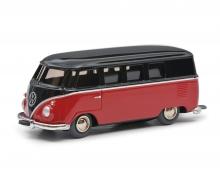 schuco Micro Racer VW T1 Bus, braun-rot