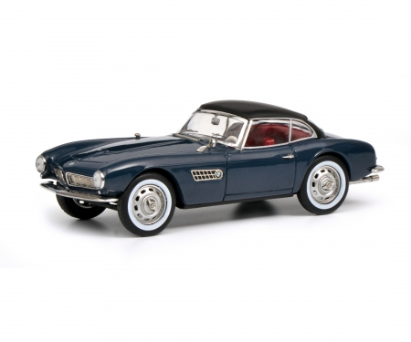 schuco BMW 507 with Hardtop, grey blue black, 1:43