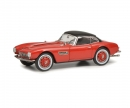BMW 507 with Hardtop, red black, 1:43