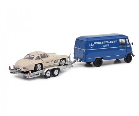 schuco MB L319 w.trailer+300SL 1:43