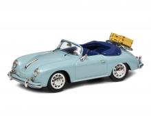 """schuco Porsche 356 A Cabriolet """"Reisezeit"""", meißenblau, 1:43"""