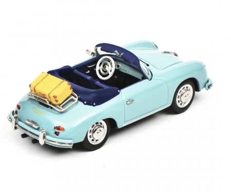 """schuco Porsche 356 A Cabriolet """"Reisezeit"""", blue, 1:43"""