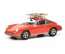 """schuco Porsche 911 S """"Skiurlaub"""", red, 1:43"""