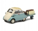 "schuco BMW Isetta with trailer and luggage ""Auto-Porter"", green beige, 1:43"