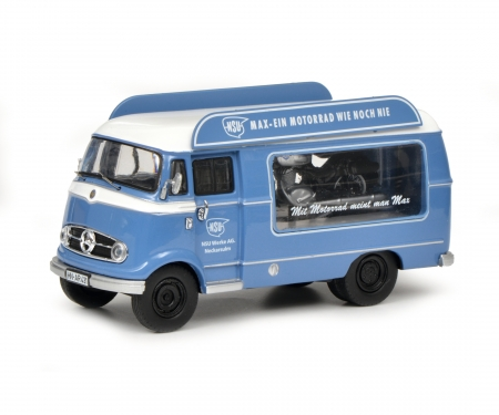 "schuco Mercedes-Benz L319 promotion car ""NSU-Max"" with Piccolo NSU-Max, 1:43"