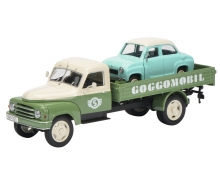 "Hanomag L28 pick-up with Goggomobil ""Goggomobil-Service"" 1:43"