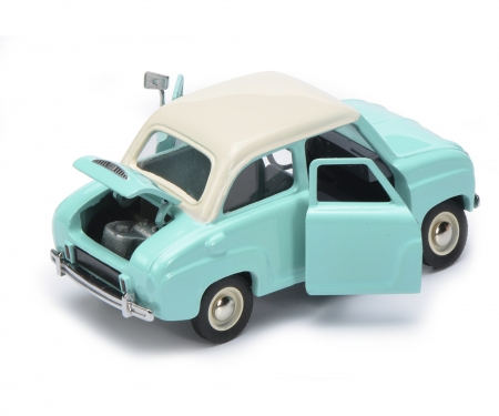"schuco Hanomag L28 pick-up with Goggomobil ""Goggomobil-Service"" 1:43"