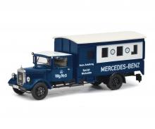 """schuco Mercedes-Benz Lo 2750 """"Rennabteilung-Spezialwerkstätte"""", 1:43"""