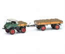 schuco Unimog U 401 with trailer and potatoes 1:43
