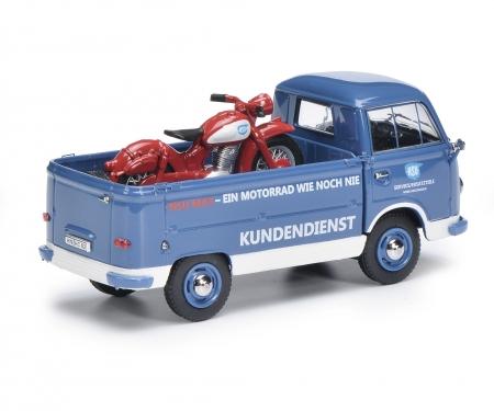 """schuco FK 1000 Pritschenwagen mit NSU-Max """"NSU-Service"""" 1:43"""