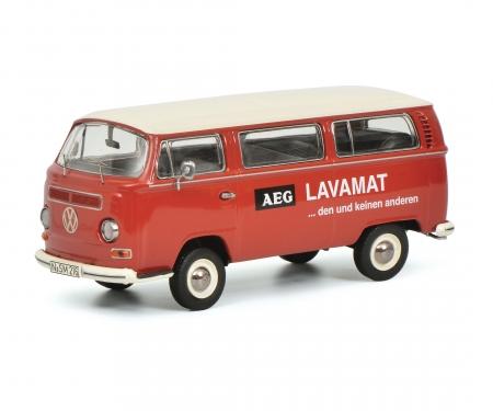 """schuco VW T2a Bus L Luxus """"AEG Lavamat"""", red 1:43"""