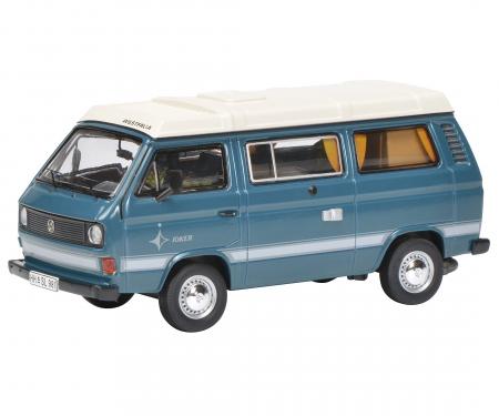 """schuco VW T3a """"Joker"""" camping bus, medium blue, 1:43"""