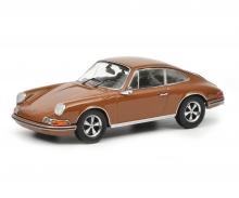 schuco Porsche 911 S, sepia brown 1:43
