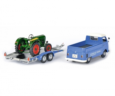 VW T1c pick-up with trailer and Allgaier tractor 1:43