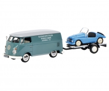 "schuco VW T1c box van ""Kleinschnittger"" with trailer and Kleinschnittger F125"