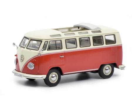 schuco VW T1b Samba, red-beige 1:43