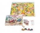"""""""Das große Piccolo Traktoren-Rennen"""" board game with 4 Piccolo tractors"""