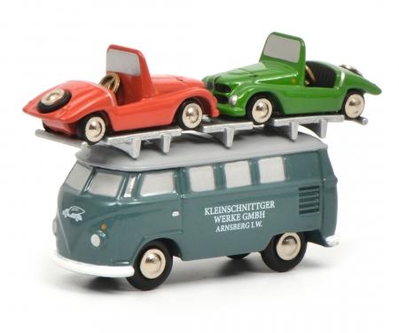 """schuco VW T1 Bus """"Kleinschnittger"""" mit Kleinschnittger"""