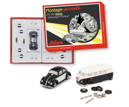 """""""Der kleine Volkswagen-Monteur"""" VW T1 bus and VW Beetle Piccolo construction kit"""