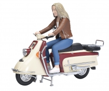Heinkel Tourist 103 A2 with rider 1:10
