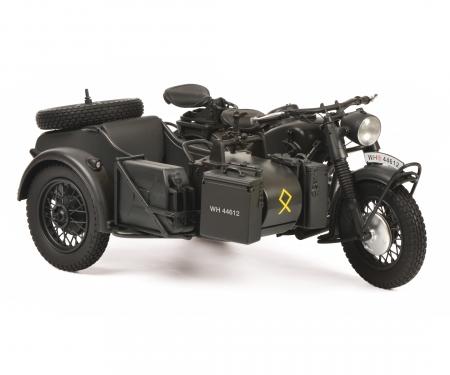"""schuco BMW R75 mit Beiwagen """"Wehrmacht"""", grey, 1:10"""