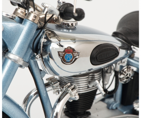 schuco Horex Regina with single seat, blue metallic, 1:10