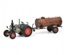 Lanz Bulldog with manure trailer, 1:32