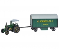 "Lanz Bulldog with trailer ""Schenker"" 1:32"
