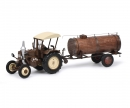 schuco Lanz Bulldog with roof and manure trailer, 1:32