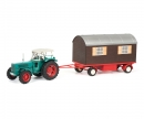 schuco Hanomag Robust with trailer, 1:32