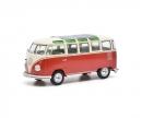 schuco VW T1 Samba,rot-beige 1:32